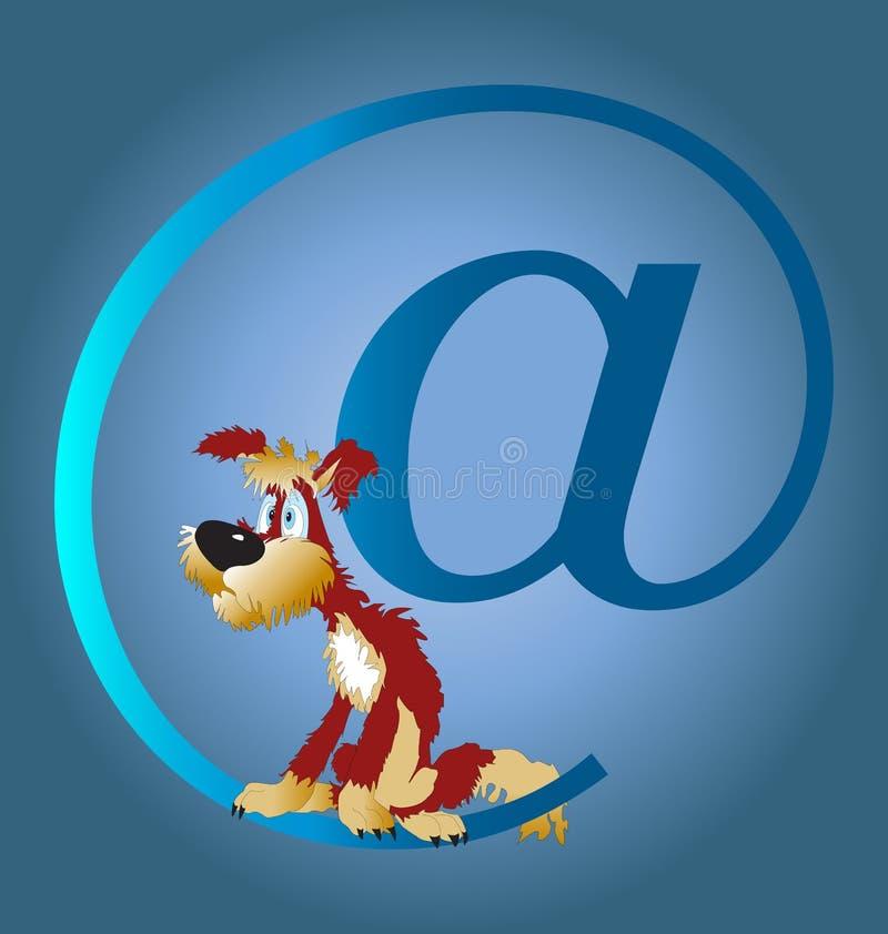 Hund und das Internet stockbilder