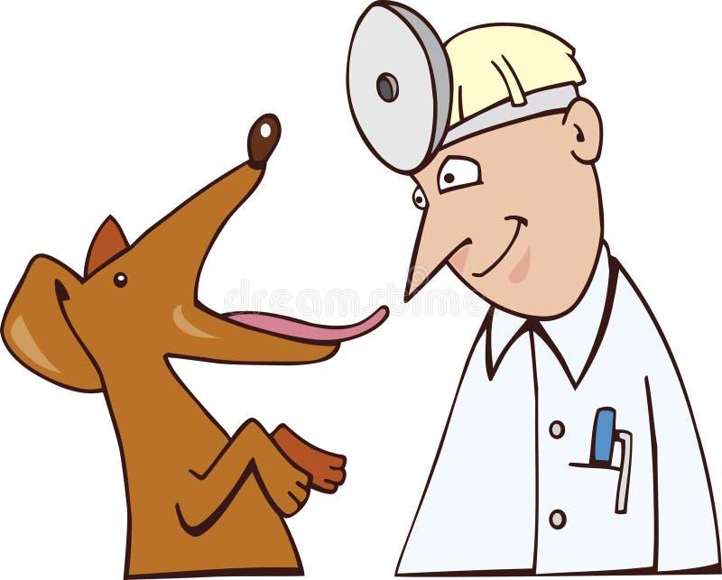 Hund und Tierarzt stock abbildung