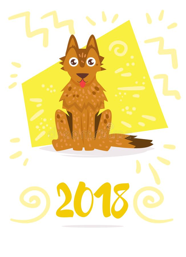 Hund Vektor karikatur Getrennt lizenzfreie abbildung