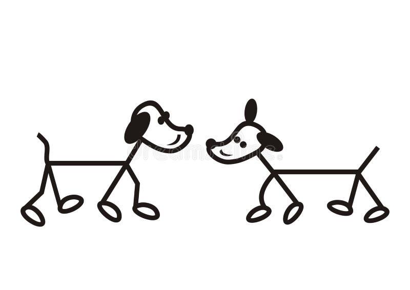 hundar stock illustrationer