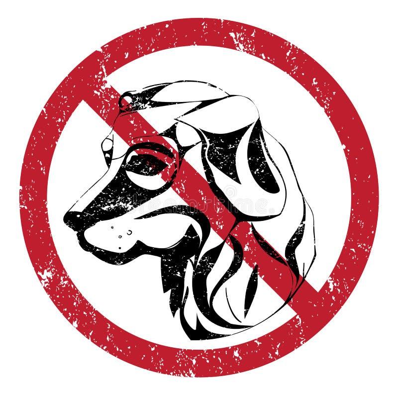 Hunde verboten stock abbildung