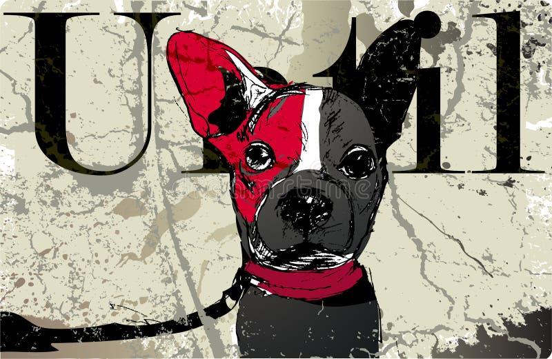 Hundeaufwartung stock abbildung
