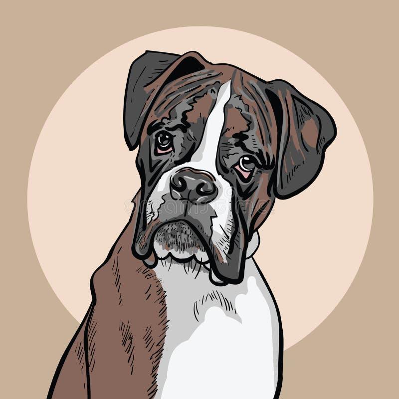 Hundeboxer Abbildung vektor abbildung