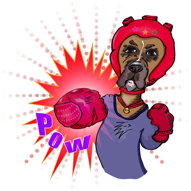 Hundeboxer brennt durch Vektor lizenzfreie abbildung
