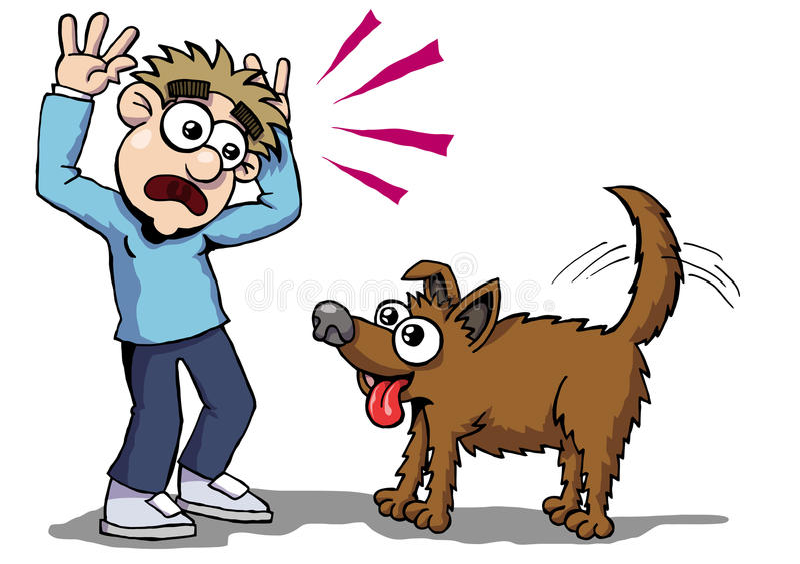 Hundefurcht vektor abbildung