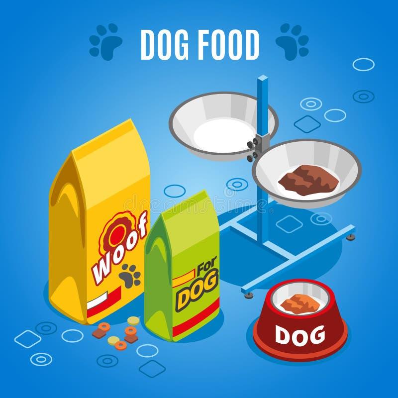 Hundefutter-isometrische Zusammensetzung vektor abbildung