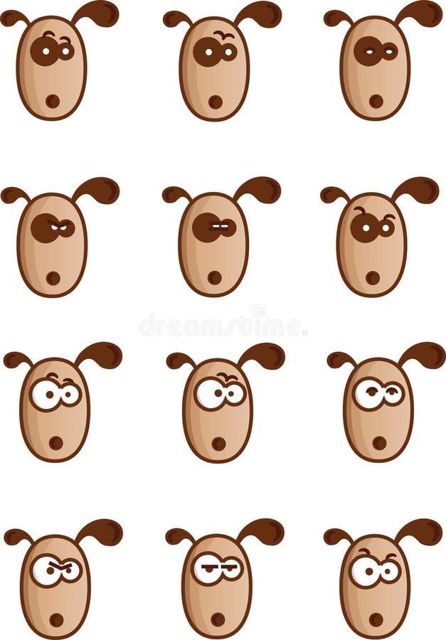 Hundegesichter stock abbildung