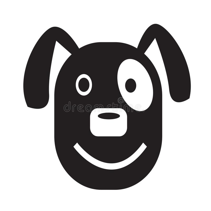 Hundegesichtsgefühl Ikonen-Illustrationszeichendesign vektor abbildung