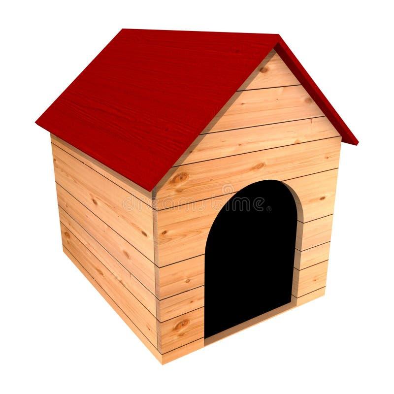 Hundehütte des Hundes lizenzfreie abbildung