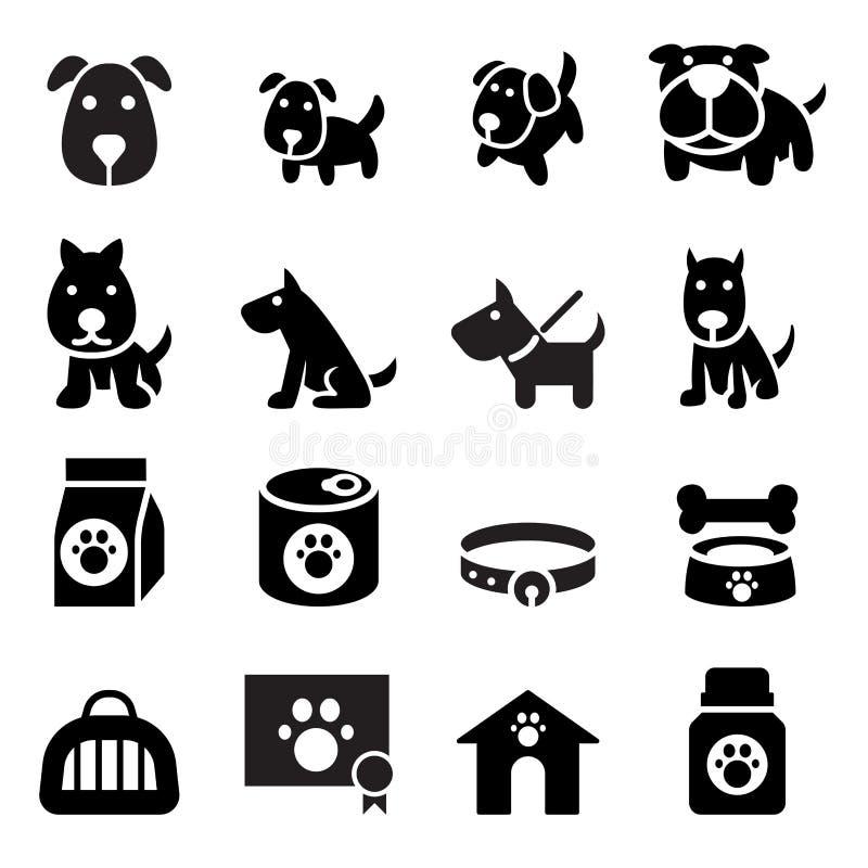 Hundeikone lizenzfreie abbildung