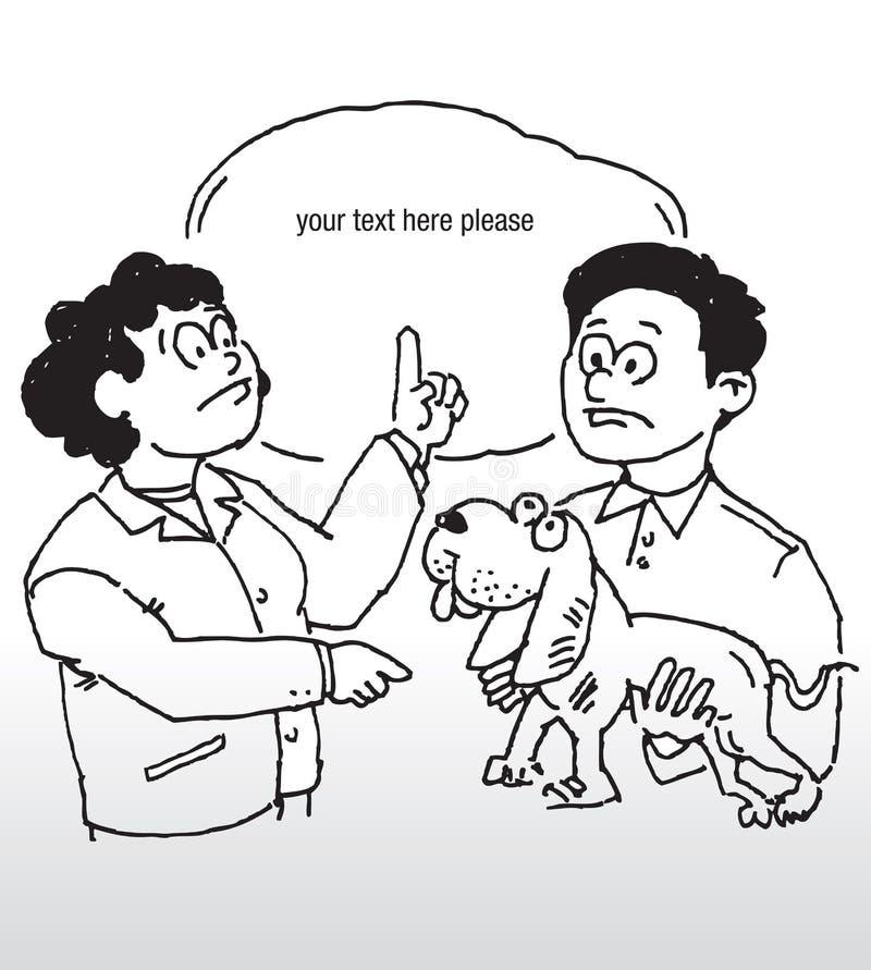 Hundein verbindung stehendes Thema lizenzfreie abbildung