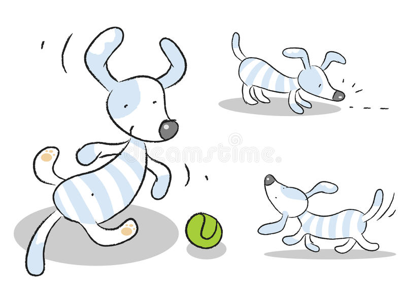 Hundekarikatur lizenzfreie abbildung