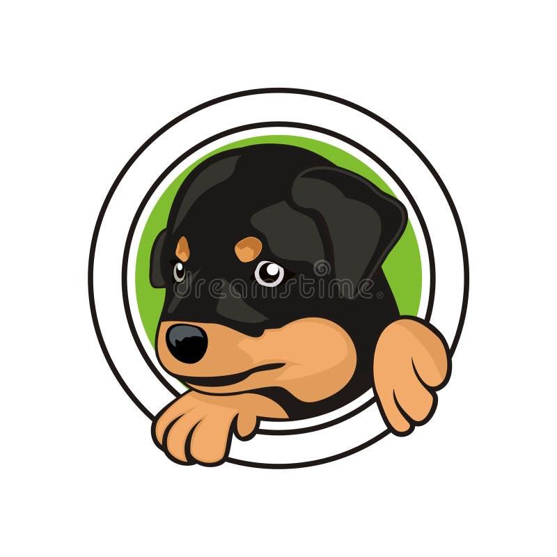 Hundekopf-Entwurfsvektor stock abbildung