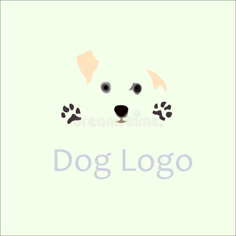 Hundelogoschablone stockbilder