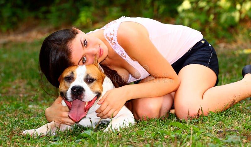hunden älskar jag mitt royaltyfri bild