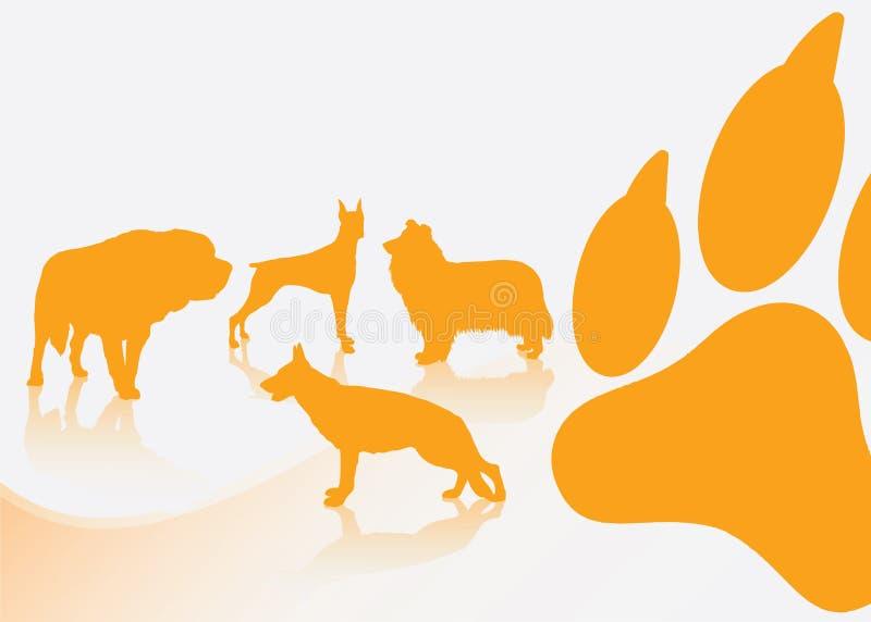 Hunden föder upp bakgrund stock illustrationer