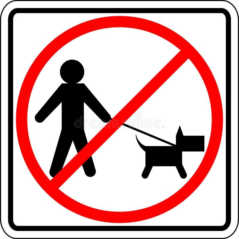 hunden förböd tecknet går vektor illustrationer