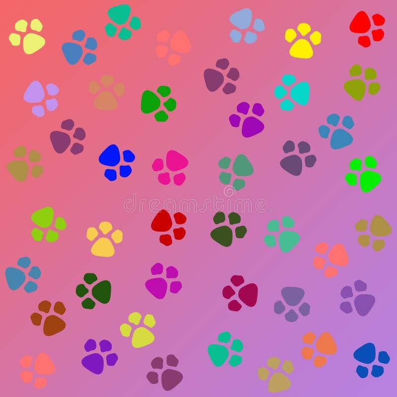 Hunden tafsar textur vektor illustrationer