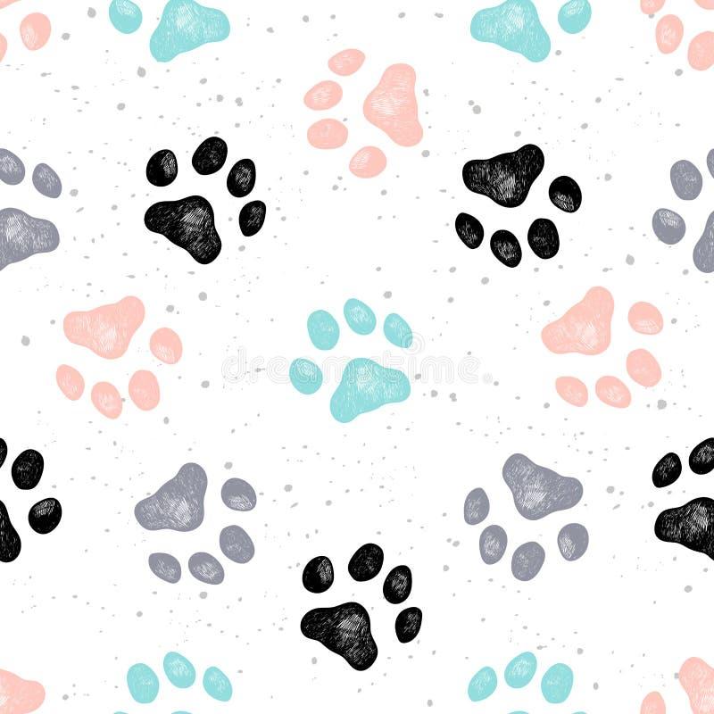 Hunden tafsar tryckvektorn Vexture vektor illustrationer