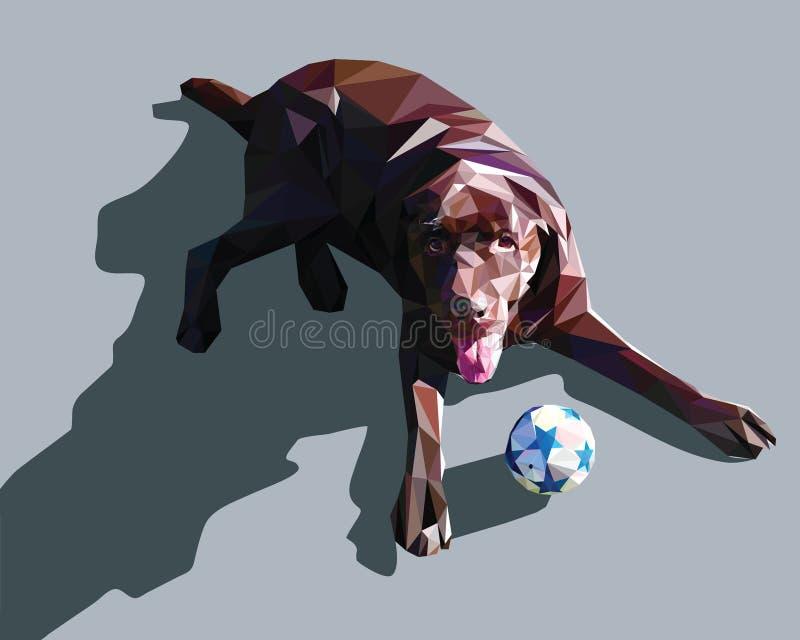 Hundeniedrig Polydesign lizenzfreie abbildung