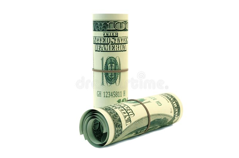 Hundered Dollar Bill 3d Render On White With Clipping Path vector illustration