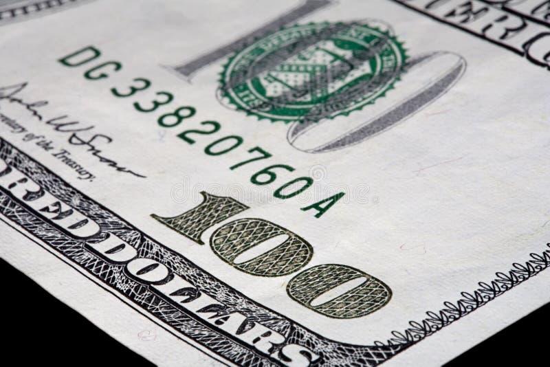 Hundert Dollarschein Stockfotos