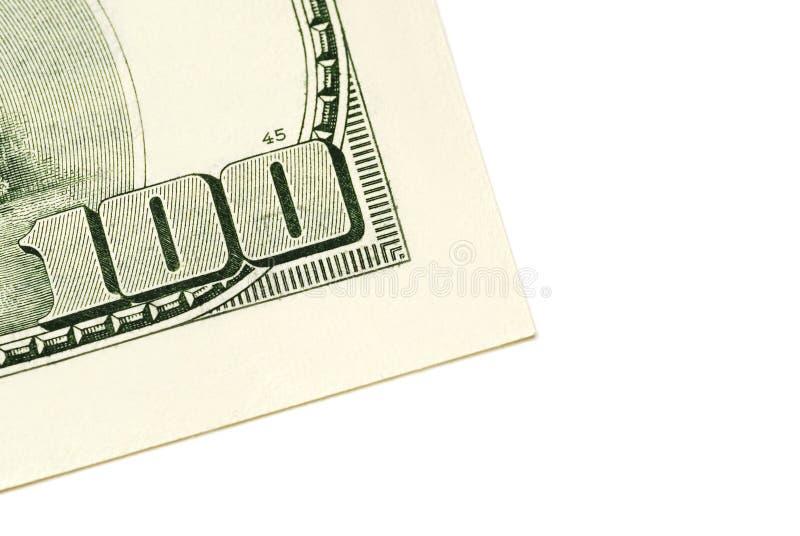 Hundert Dollarschein stockfotografie