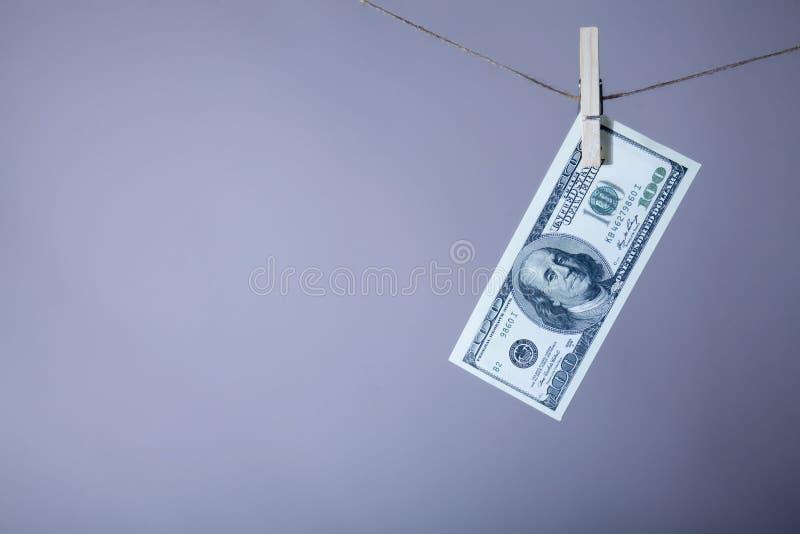 Hundert US-Dollar Rechnung mit freiem Raum für Text Geschäft, globale Wirtschaft und Geldkonzept Vereinigter Staaten stockfoto