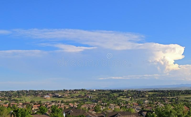 Hundertjährig, Colorado - Denver Metro Area Residential Panorama lizenzfreie stockfotografie