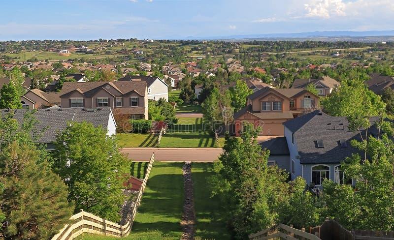 Hundertjährig, Colorado - Denver Metro Area Residential Panorama lizenzfreie stockbilder