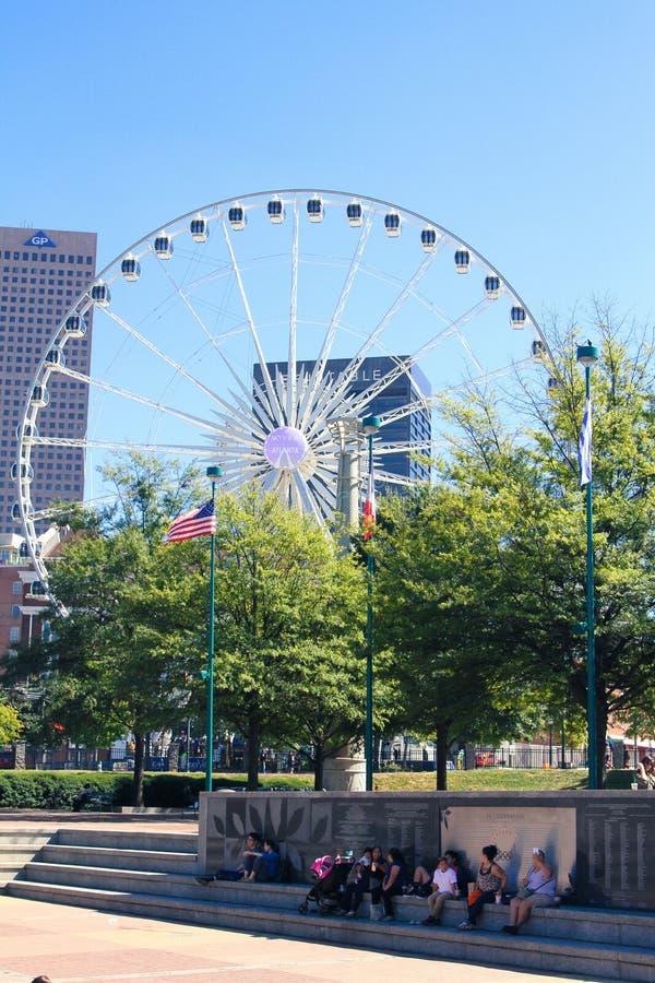 Hundertjähriger Olympiapark, Atlanta, GA stockbilder