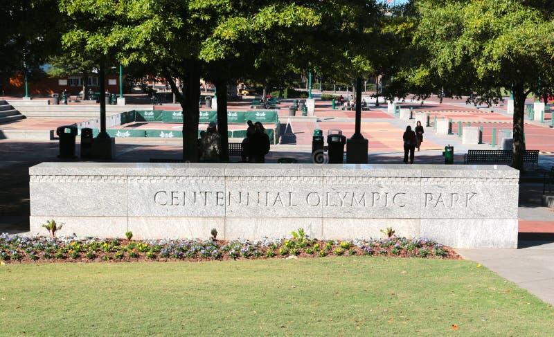 Hundertjähriger olympischer Park in Atlanta, GA stockbilder