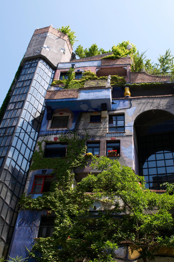 Download Hundertwasser Apartment House Stock Image - Image: 12347421