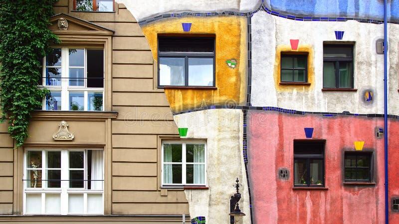 Hundertwasser Haus, Βιέννη Αυστρία στοκ εικόνες