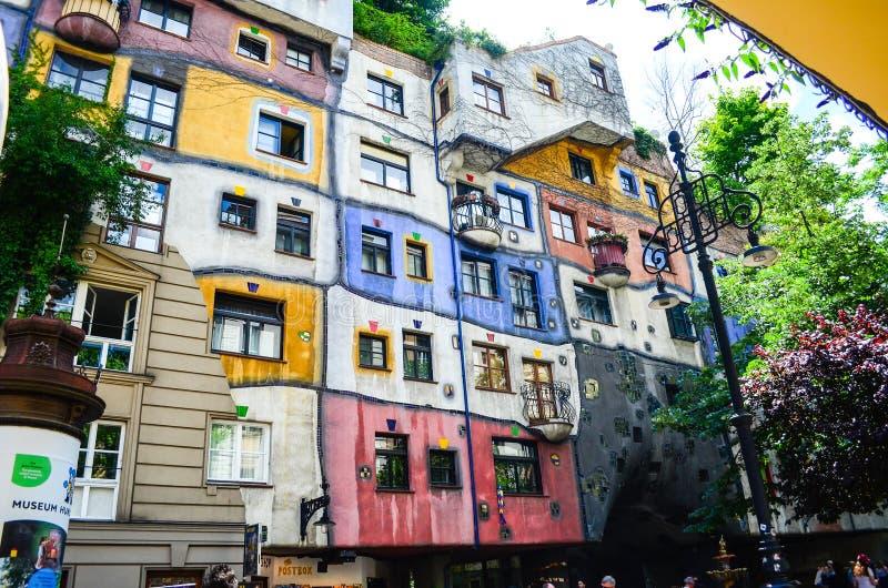 Hundertwasser Haus - Wenen royalty-vrije stock afbeeldingen