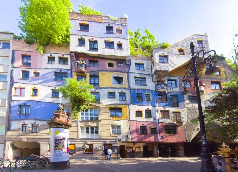 Hundertwasser Haus in Wien, Österreich stockfotos