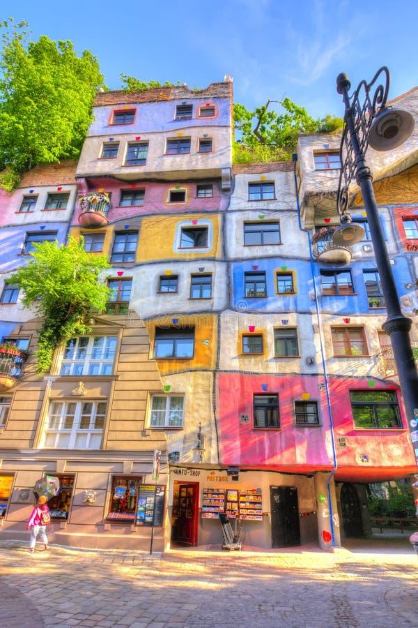 Hundertwasser Haus in Wien, Österreich stockbild