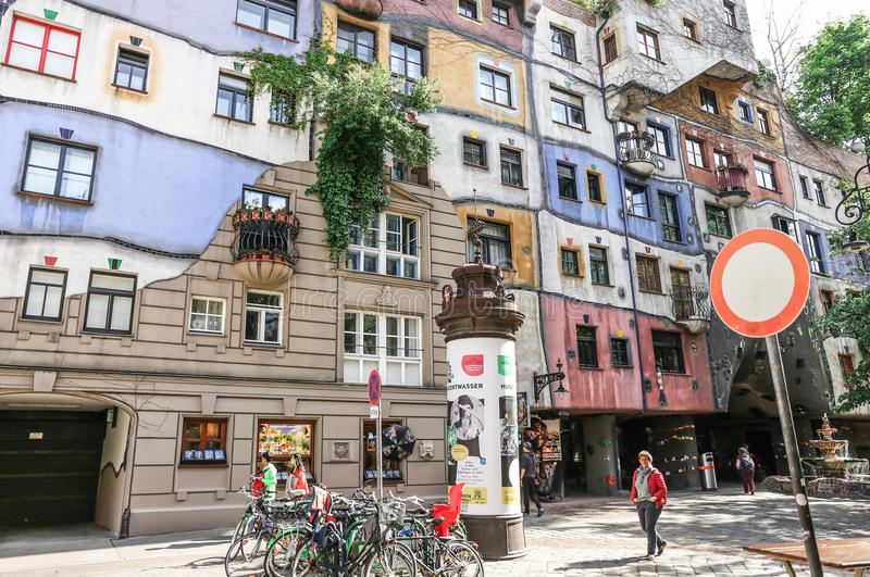 Hundertwasser Haus in Wien lizenzfreies stockfoto