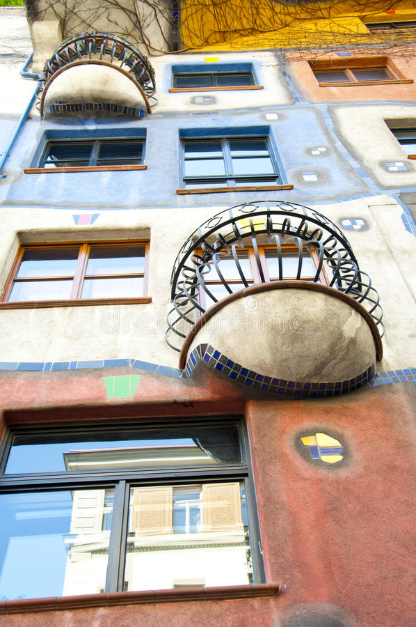 Hundertwasser House in Vienna, Austria stock images