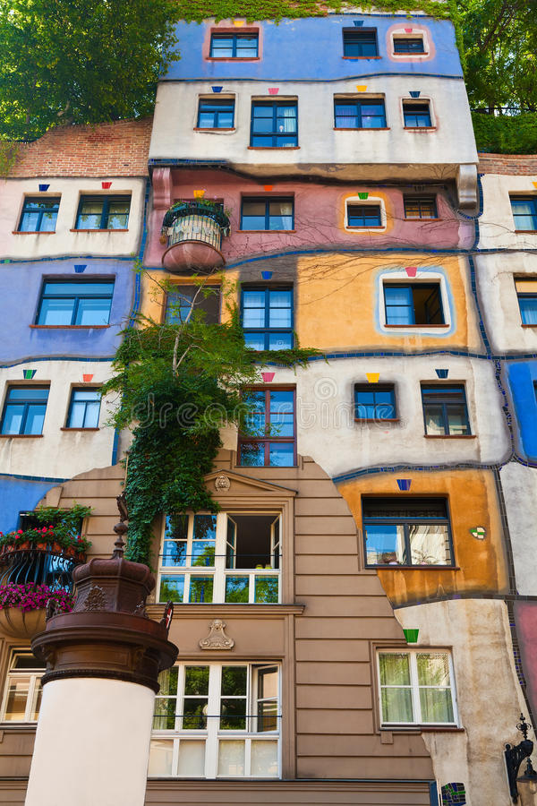 Hundertwasser house in Vienna stock photography