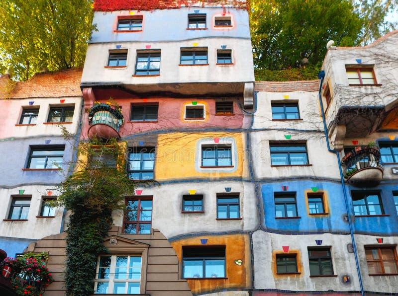 Hundertwasserhaus在维也纳 免版税库存图片