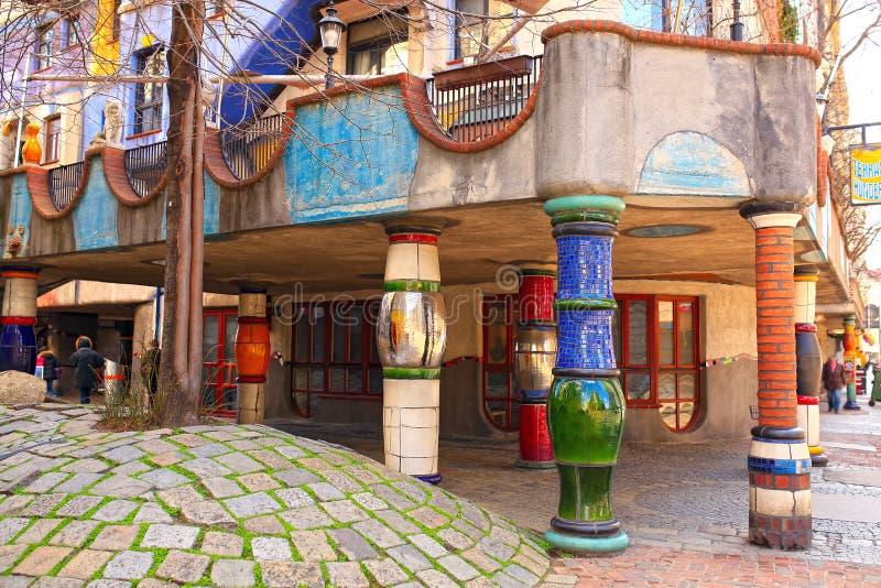 Hundertwasserhaus 奥地利维也纳 图库摄影