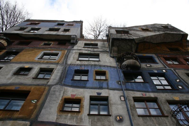 Hundertwasserhaus维恩维也纳 免版税库存照片