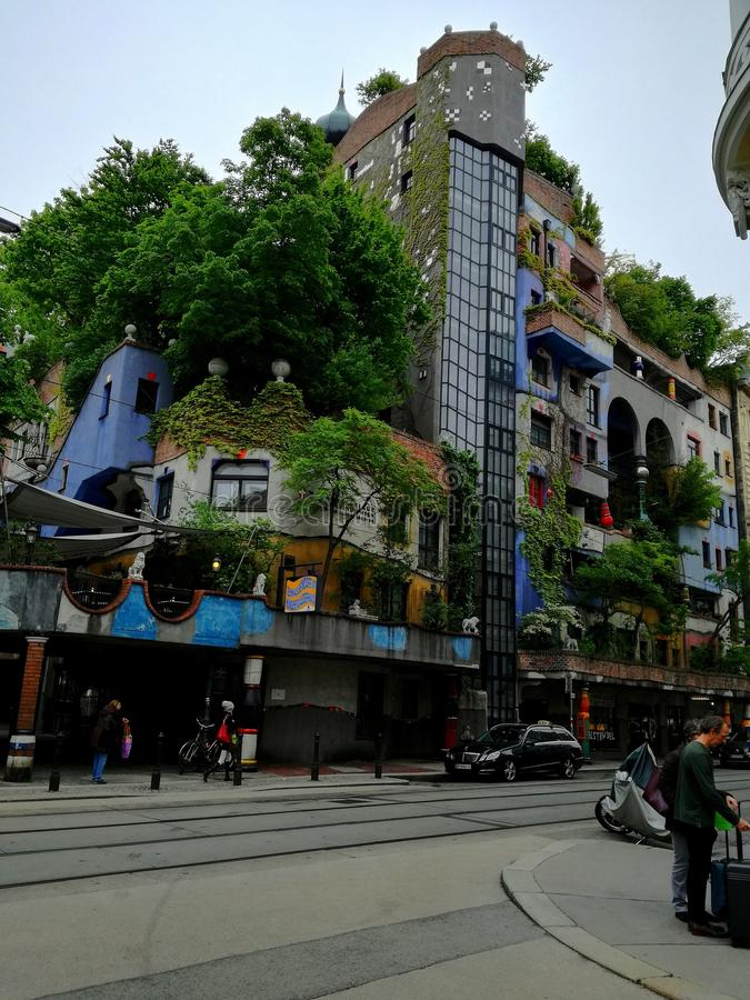 Hundertwasserhaus стоковые фотографии rf
