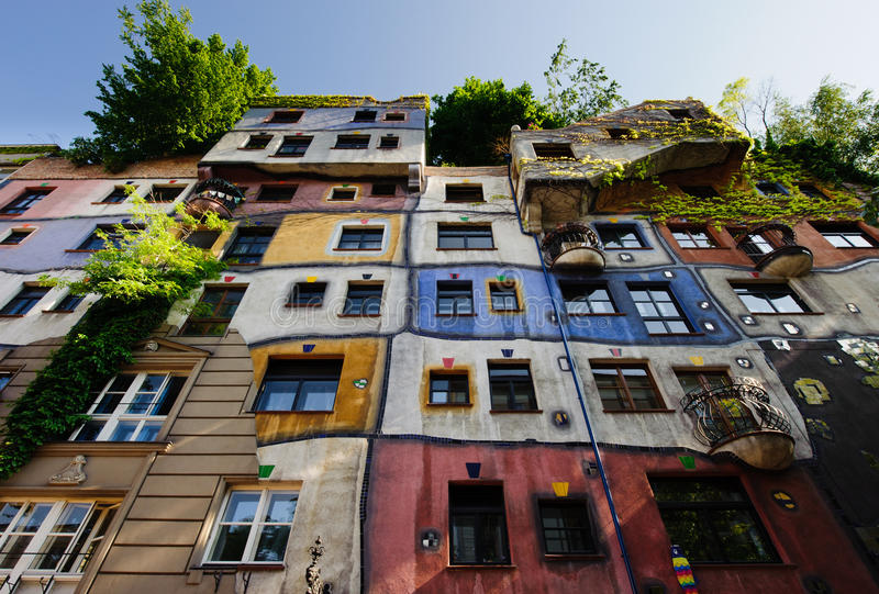 Hundertwasserhaus fotografia de stock royalty free