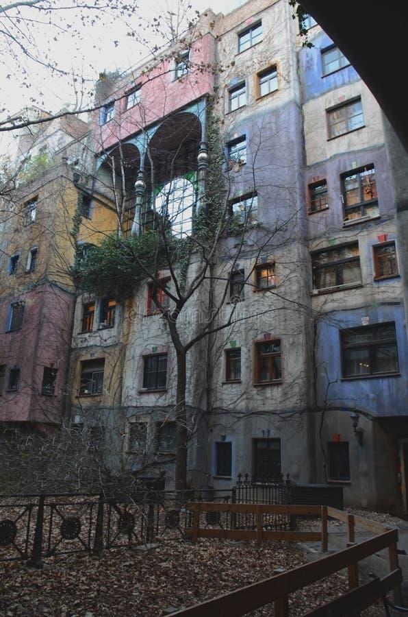 Hundertwasserhaus fotografia stock