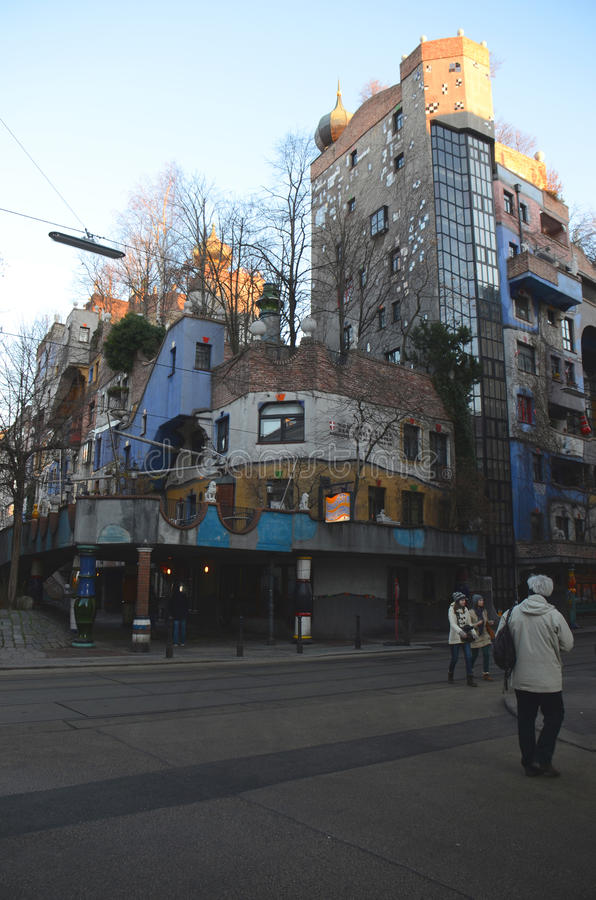 Hundertwasserhaus fotografie stock libere da diritti