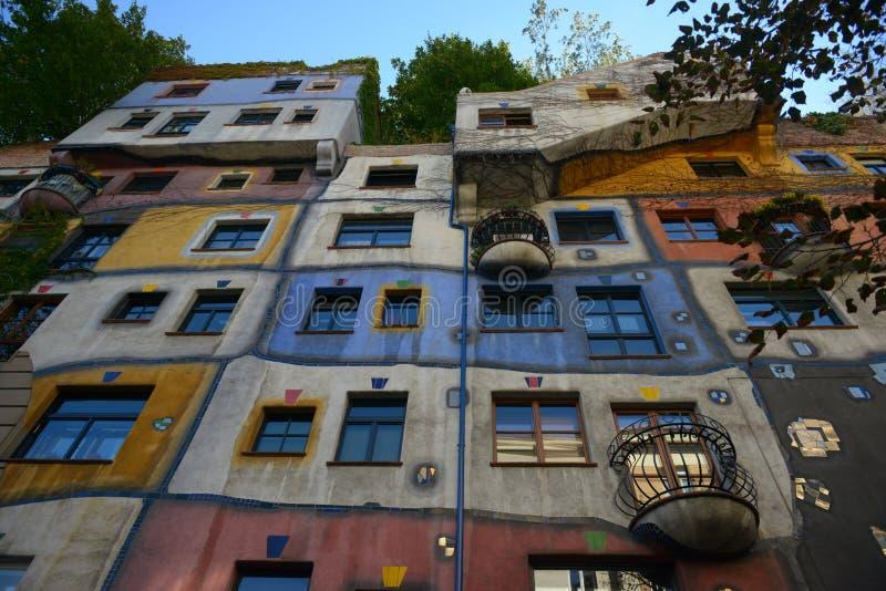 Hundertwasserhouse 库存照片