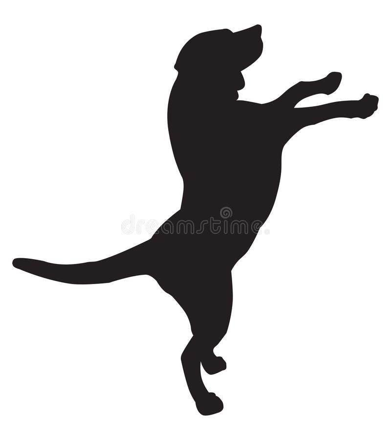 Hundeschattenbild stock abbildung