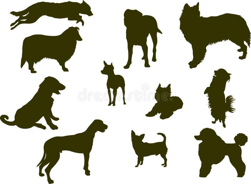 Hundeschattenbilder vektor abbildung